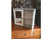 Annie Sloan chalk painted bathroom cabinet