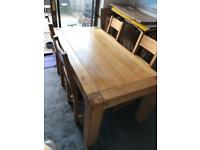 Free oak table and chairs