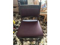 x4 leather covered dining chairs
