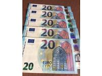 100 Euros Left Over Holiday Money