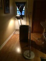 Beautiful Contemporary Arch Floor Lamp with White Marble Base