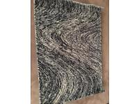 The rug house / gray, black and white wool rug over £200 new