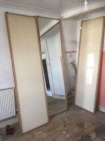 Mirror wardrobe sliding doors and rail for sale