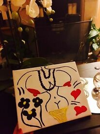 Erotic Art, Hearts, Flowers and Black Pearls
