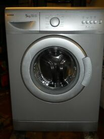 Beko WM5100s Silver washing machine 1000spin 5kg recon motor new door seal 48cm deep
