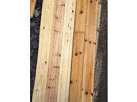 Pine wooden floor