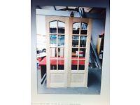 Oak French door pair
