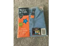 BNWT blue polo shirts -age 5/6
