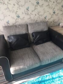 2 seater and large chair