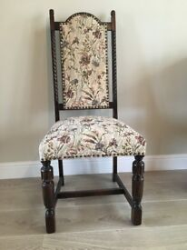 Jaycee Jacobean Reproduction Oak Dining Room Chairs