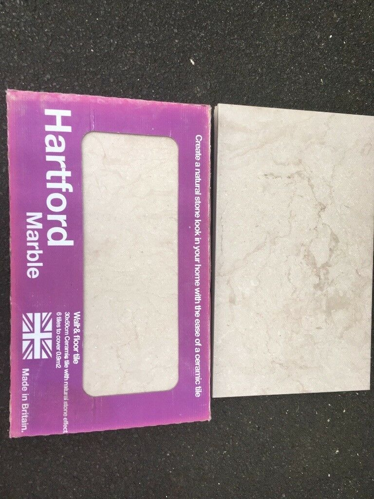 Hartford Marble Stone Effect Ceramic Wall & Floor Tile (1 Box) | in ...