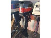 30HP MARINER/YAMAHA OUTBOARD BOAT ENGINE LONG SHAFT SPARES OR REPAIR