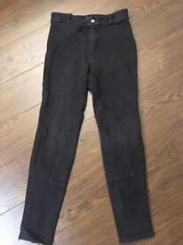 Horse riding breeches jodhpurs age 12 (would fit 8-12 yr old) and a pony brush
