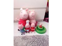 peppa pig 5 toys large 2 small 3 i music peppa