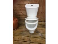 CLOSE COUPLED WC SUITE WHITE WITH SOFT CLOSE SEAT