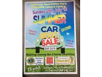 SUMMER CARBOOT SALE