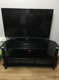 Tv stand with ikea storage boxes