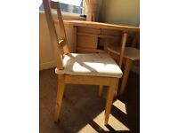 Ikea folding table & 4 chairs
