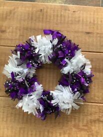 Handmade ribbon wreath