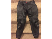 Dainese leathers, like new, mens size 44 inch chest, 34 inch waist