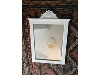 French Shabby chic White frame Wall Mirror