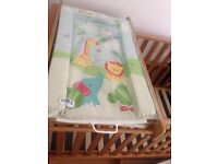 mothercare cot bed with draw and changing rail