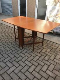 Teak retro drop leaf table