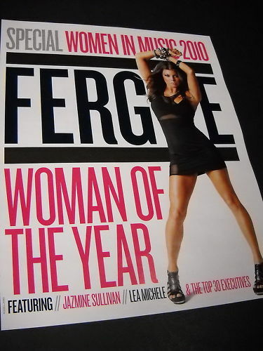 FERGIE Promo Poster Ad WOMEN IN MUSIC Woman Of Year mint condition