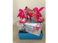 Irregular Choice High-Heeled Shoe (Abigail's Party in Pink Tropical Floral)