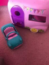 Barbie camper and car