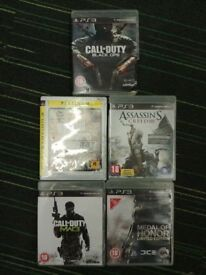 5x PS3 Games - Call of Duty MW3 , Grand Theft Auto IV, Medal of Honor, Black Ops