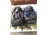 Rucksacks backpacks x2