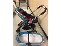 iCandy peach 2 sweatpea pram and carry cot