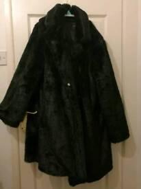 Size 16 Faux fur coat