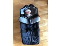 Baby travel cot sleeping bag for aeroplane