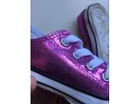 Girls sparkly converse size 6 (junior)
