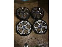 "Ford Fiesta st 17"" alloy wheels"