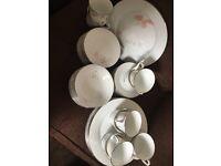 Tea set tea cups and saucers