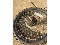 Kids 18 x 1.75 rear bicycle wheel