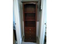 Dark Wood Book Case with 4 Draws Villa and Hut