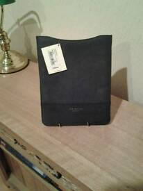 🌟BRAND NEW ⭐TED BAKER ⭐LEATHER Sleeve / Pouch ⭐with tag on RRP £59⭐