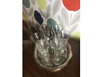 Silver plate sherry set