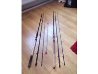 13' Float Fishing Rod/12' Feeder Rod + 3 Tips...Carbon Fibre...