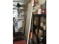Large white Ikea desk top (no legs) - VIKA AMON 200x60cm