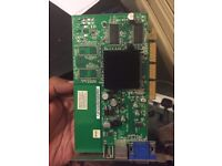 ASUS Rv280-le-a062srev 1.03 Radeon 9200 128mb AGP TV out Dvi/vga Video Card
