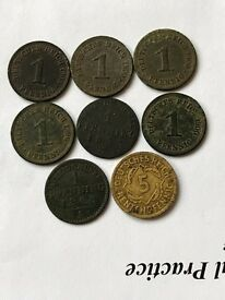 Set of PFENNING coins