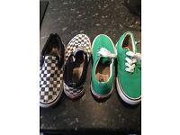2 pair VANs shoes size 5