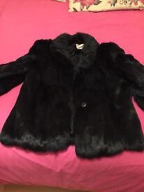 Genuine real fur coat