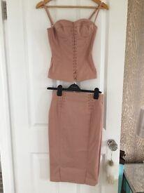 Mango corset top and skirt