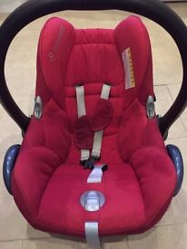 Maxi-Cosi CabrioFix Red Car Seat + Easyfix ISOFIX base Group 0+ Infant Carrier